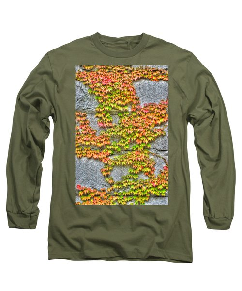 Long Sleeve T-Shirt featuring the photograph Fall Wall by Michael Frank Jr