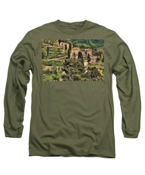 Long Sleeve T-Shirt featuring the photograph Farm Orvieto Italy by Hugh Smith