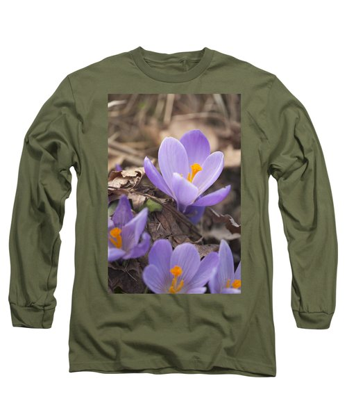 First Crocus Blooms Long Sleeve T-Shirt