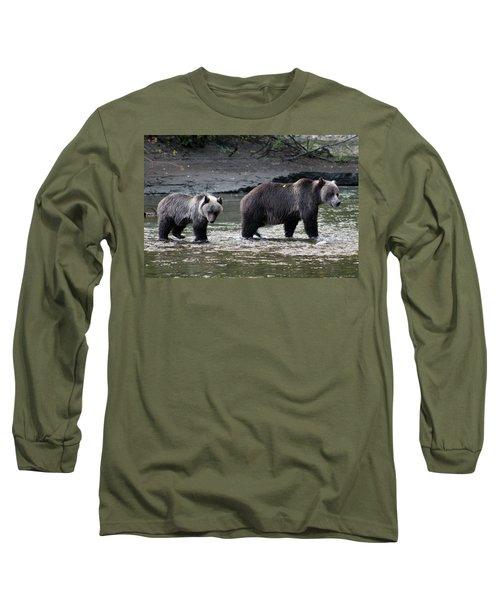 Long Sleeve T-Shirt featuring the photograph Fishing Lessons by Cathie Douglas