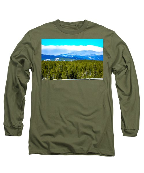 Long Sleeve T-Shirt featuring the photograph Fog In The Rockies by Shannon Harrington