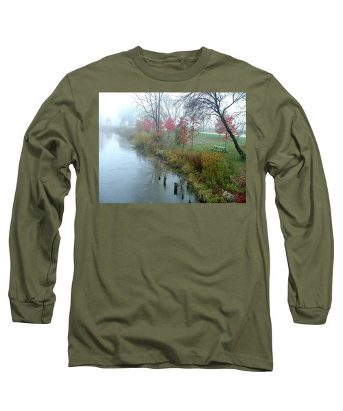 Fog On The Muskegon River Long Sleeve T-Shirt