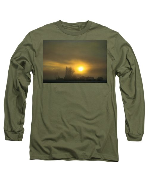Foggy Sunrise Long Sleeve T-Shirt by Charlie Duncan