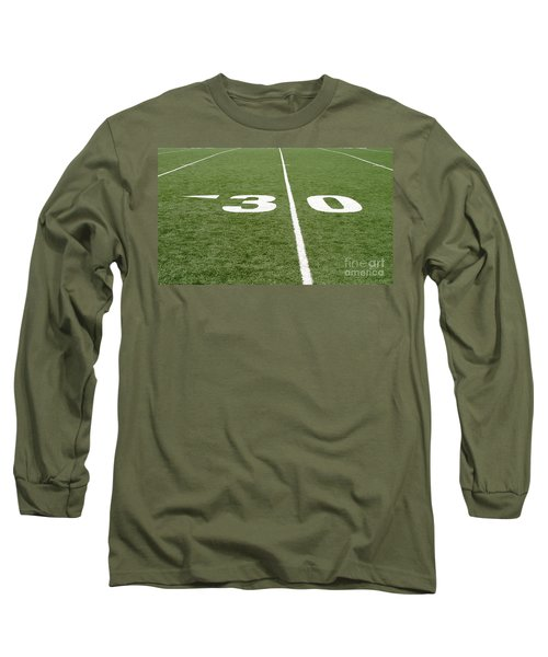Long Sleeve T-Shirt featuring the photograph Football Field Thirty by Henrik Lehnerer