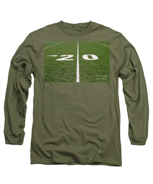 Long Sleeve T-Shirt featuring the photograph Football Field Twenty by Henrik Lehnerer
