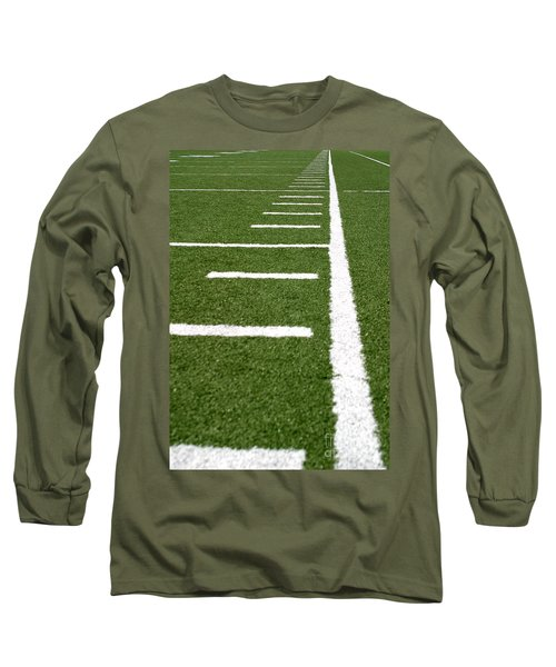 Long Sleeve T-Shirt featuring the photograph Football Lines by Henrik Lehnerer