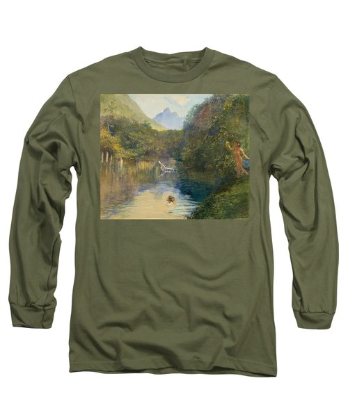 Ford At The Upper End Of The Vai-te-piha Long Sleeve T-Shirt