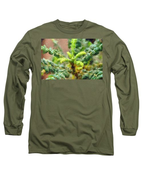 Frankincense Tree Leaves Long Sleeve T-Shirt