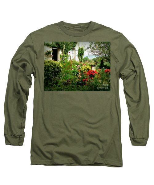 French Cottage Garden Long Sleeve T-Shirt