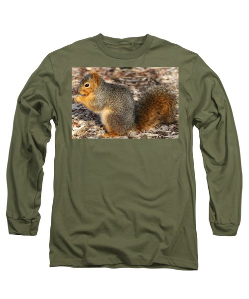 Long Sleeve T-Shirt featuring the photograph Fruity Squirel by Elizabeth Winter