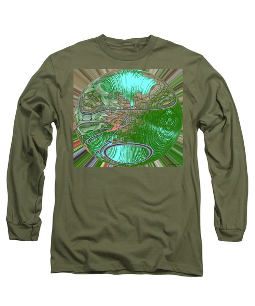 Long Sleeve T-Shirt featuring the digital art Garden Wall by George Pedro
