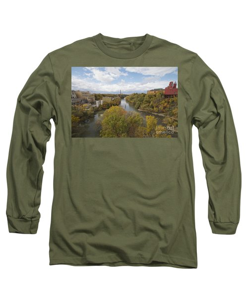 Long Sleeve T-Shirt featuring the photograph Genesee River by William Norton