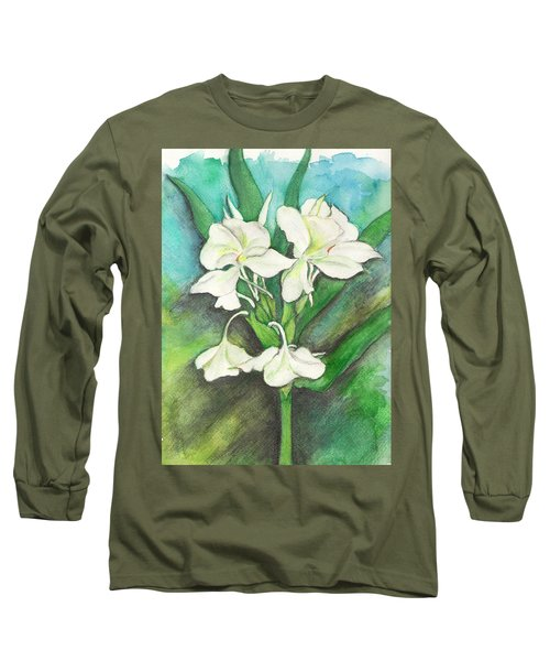 Ginger Lilies Long Sleeve T-Shirt by Carla Parris