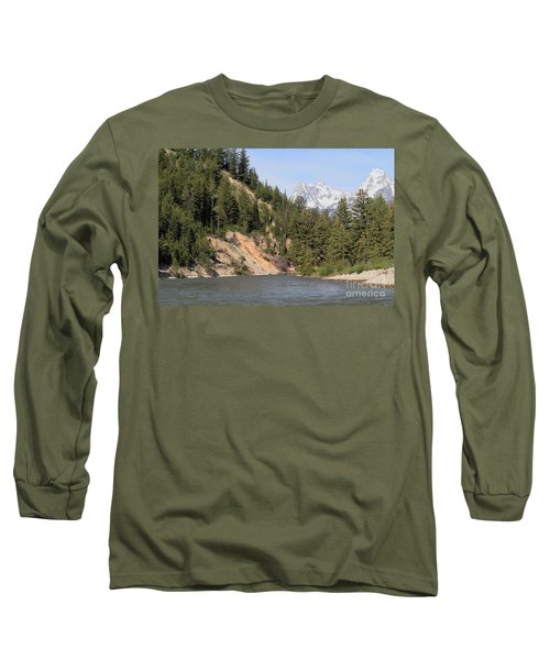 Grand Tetons From Snake River Long Sleeve T-Shirt by Living Color Photography Lorraine Lynch