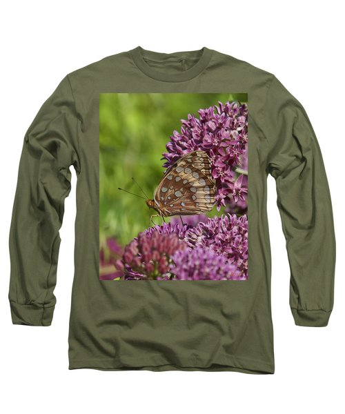 Great Spangled Fritillary Din194 Long Sleeve T-Shirt