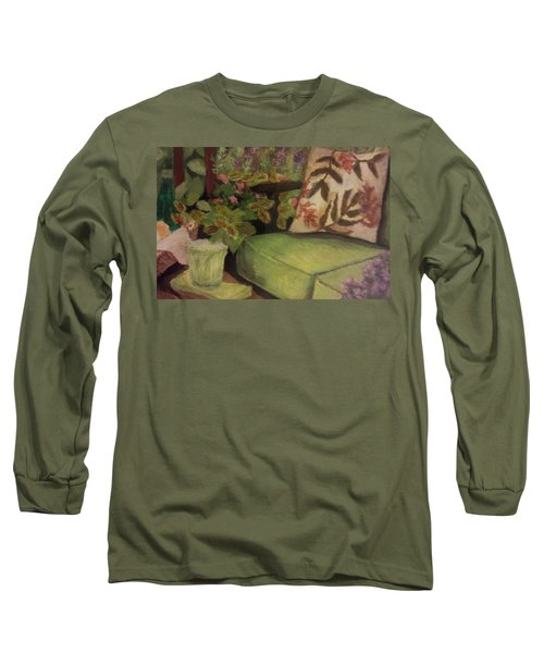 Green Patio Long Sleeve T-Shirt by Christy Saunders Church