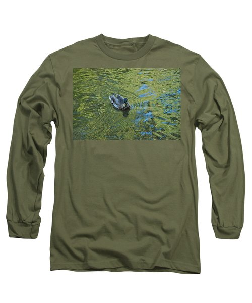 Long Sleeve T-Shirt featuring the photograph Green Pool by Joseph Yarbrough