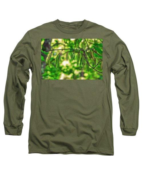 Green Redbud Seed Pods Long Sleeve T-Shirt