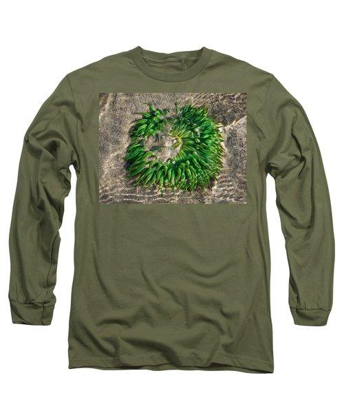 Green Sea Anemone Long Sleeve T-Shirt