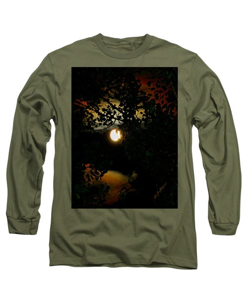 Long Sleeve T-Shirt featuring the photograph Haunting Moon IIi by Jeanette C Landstrom