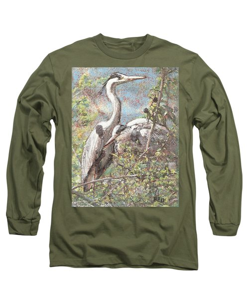 Herons Resting Long Sleeve T-Shirt