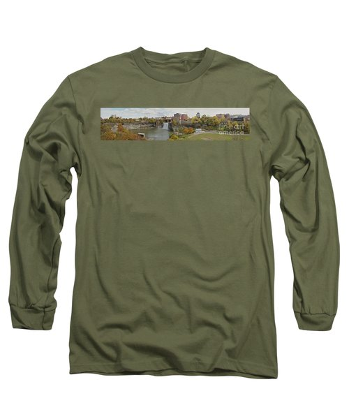 Long Sleeve T-Shirt featuring the photograph High Falls Panorama by William Norton
