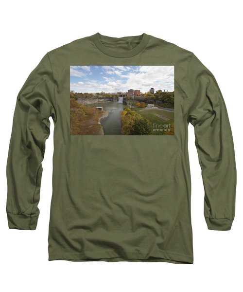 Long Sleeve T-Shirt featuring the photograph High Falls by William Norton