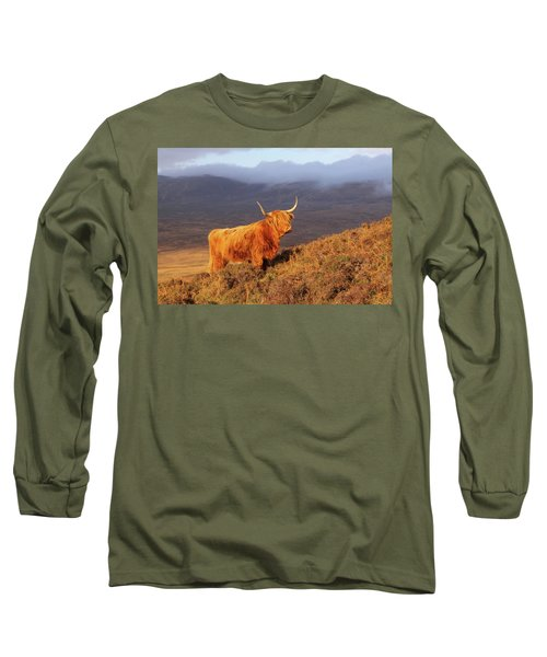 Highland Cattle Landscape Long Sleeve T-Shirt