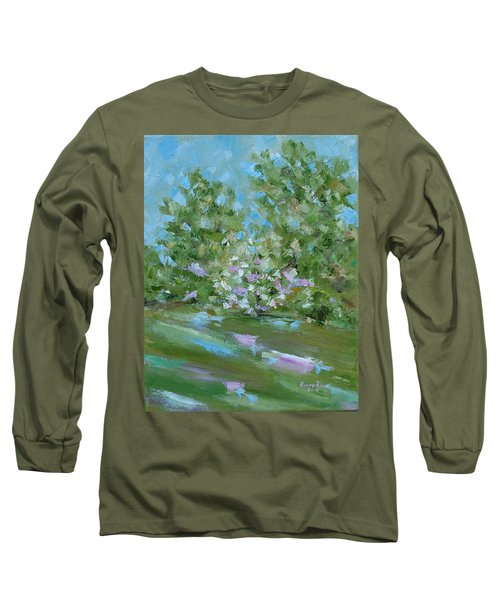 Long Sleeve T-Shirt featuring the painting Hilltop by Judith Rhue
