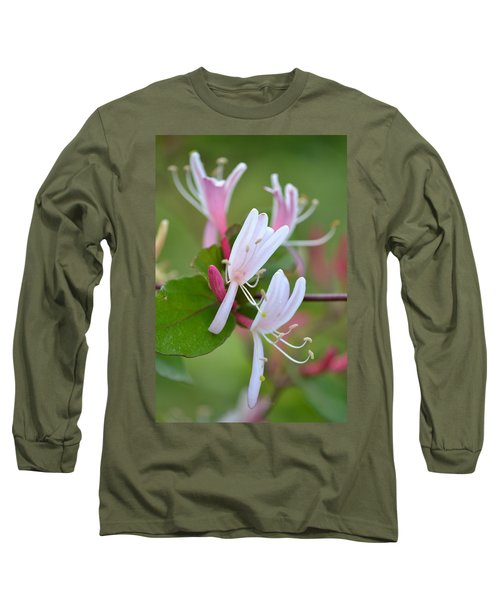 Long Sleeve T-Shirt featuring the photograph Honeysuckle by JD Grimes