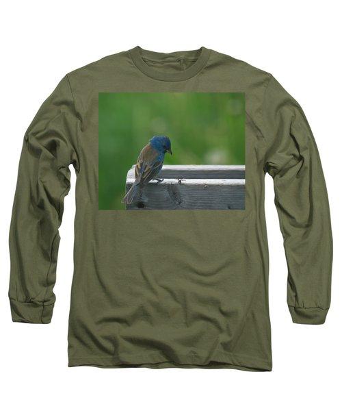 Indigo Bunting And Friend Long Sleeve T-Shirt