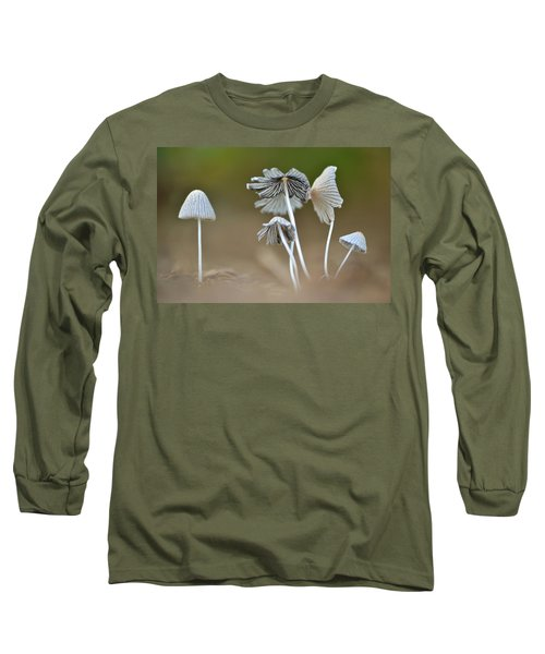 Ink-cap Mushrooms Long Sleeve T-Shirt