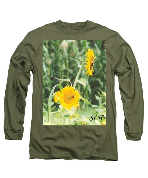 Insect On Sunflowers Long Sleeve T-Shirt