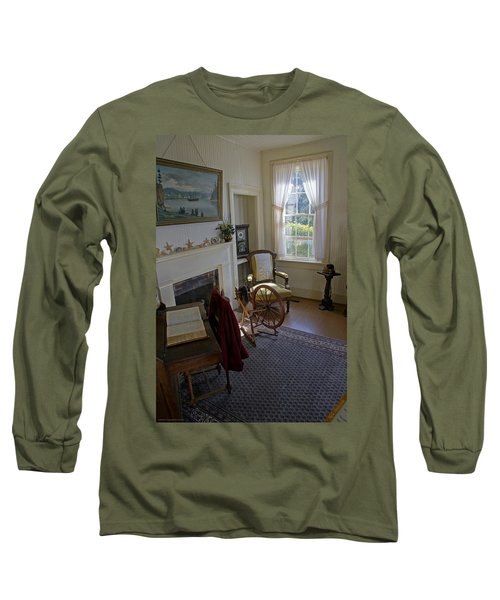 Inside Yaquina Bay Lighthouse Long Sleeve T-Shirt by Mick Anderson