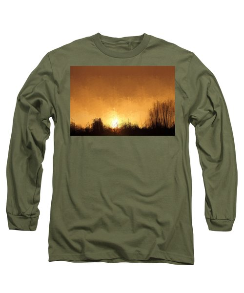 Long Sleeve T-Shirt featuring the mixed media Insomnia 1 by Terence Morrissey