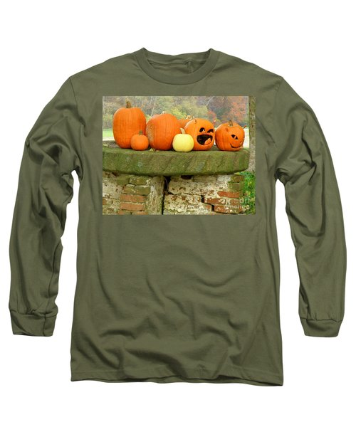 Long Sleeve T-Shirt featuring the photograph Jack-0-lanterns by Lainie Wrightson