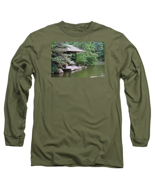 Japanese Tea House Long Sleeve T-Shirt by Bruce Bley