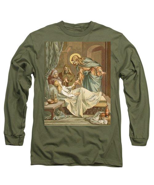 Jesus Raising Jairus's Daughter Long Sleeve T-Shirt