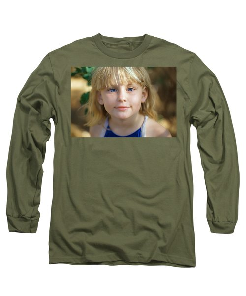 Portrait Of A Young Girl Long Sleeve T-Shirt