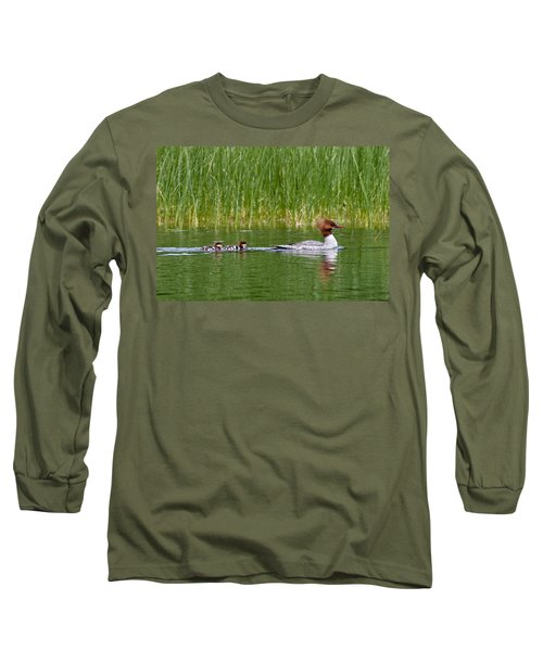 Lazy Swim Long Sleeve T-Shirt by Brent L Ander