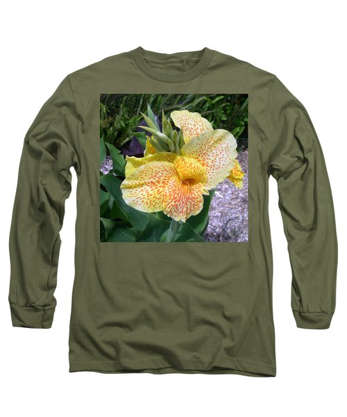 Long Sleeve T-Shirt featuring the digital art Leopard Flower by Claude McCoy