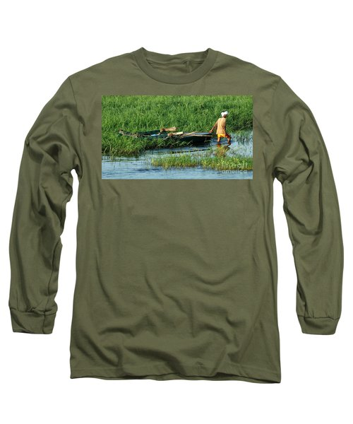 Long Sleeve T-Shirt featuring the photograph Life Along The Nile by Vivian Christopher