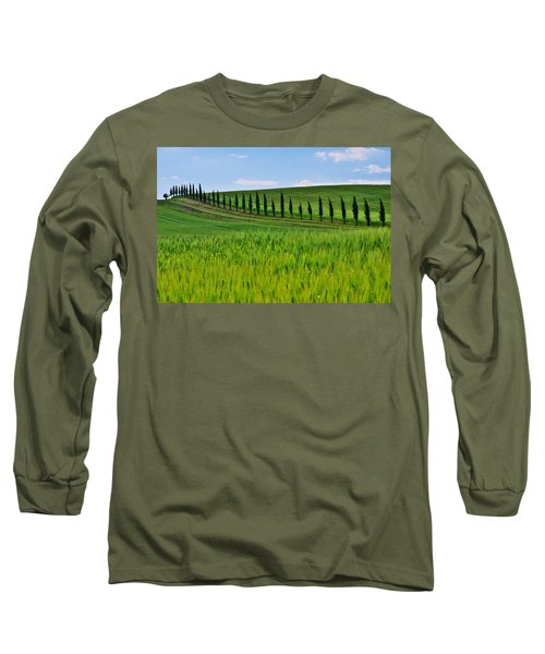 Lined Up Long Sleeve T-Shirt