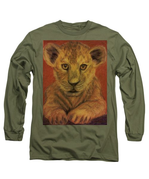 Lion Cub Long Sleeve T-Shirt by Christy Saunders Church