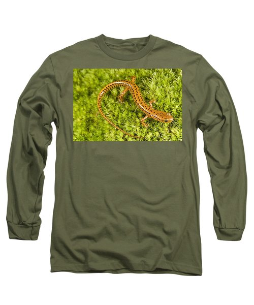 Longtail Salamander Eurycea Longicauda Long Sleeve T-Shirt by Jack Goldfarb