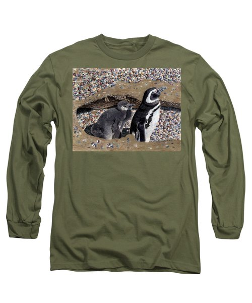 Looking Out For You - Penguins Long Sleeve T-Shirt by Patricia Barmatz