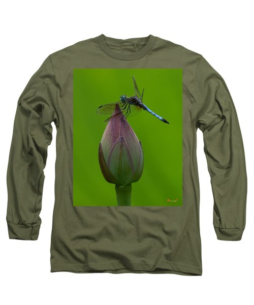 Lotus Bud And Blue Dasher Dragonfly Dl007 Long Sleeve T-Shirt