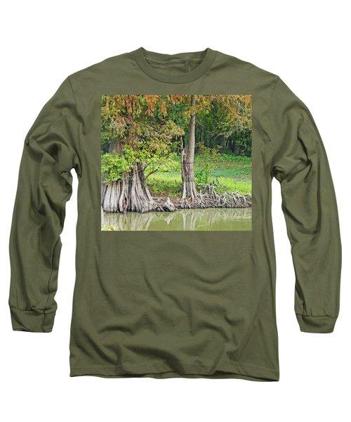 Long Sleeve T-Shirt featuring the photograph Louisiana Cypress by Lizi Beard-Ward