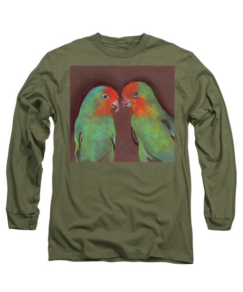 Lovebirds Long Sleeve T-Shirt by Wendy McKennon