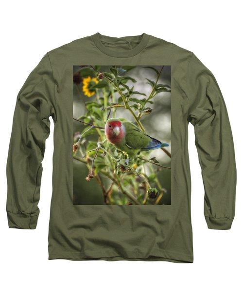 Lovely Little Lovebird Long Sleeve T-Shirt by Saija  Lehtonen
